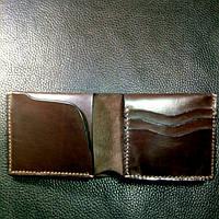 Кожаный мужской кошелек/шкіряний гаманець.Тонкий мини кошелек, портмоне, бумажник/ міні гаманець.