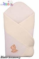 """Конверт - одеяло для новорожденного Махровый ( бело-бежевый)""""Duetbaby"""""""