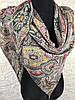 Люксовая женская разноцветная косынка из шифона со стразами и камушками (3)