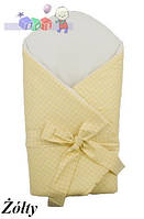"""Конверт -одеяло для новорожденного c бантом со вставкой( желтый ) """"Duetbaby"""""""
