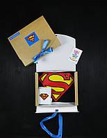 """Подарочный набор мужской. Футболка чёрная с принтом """"Superman"""", носки с принтом """"Superman"""""""