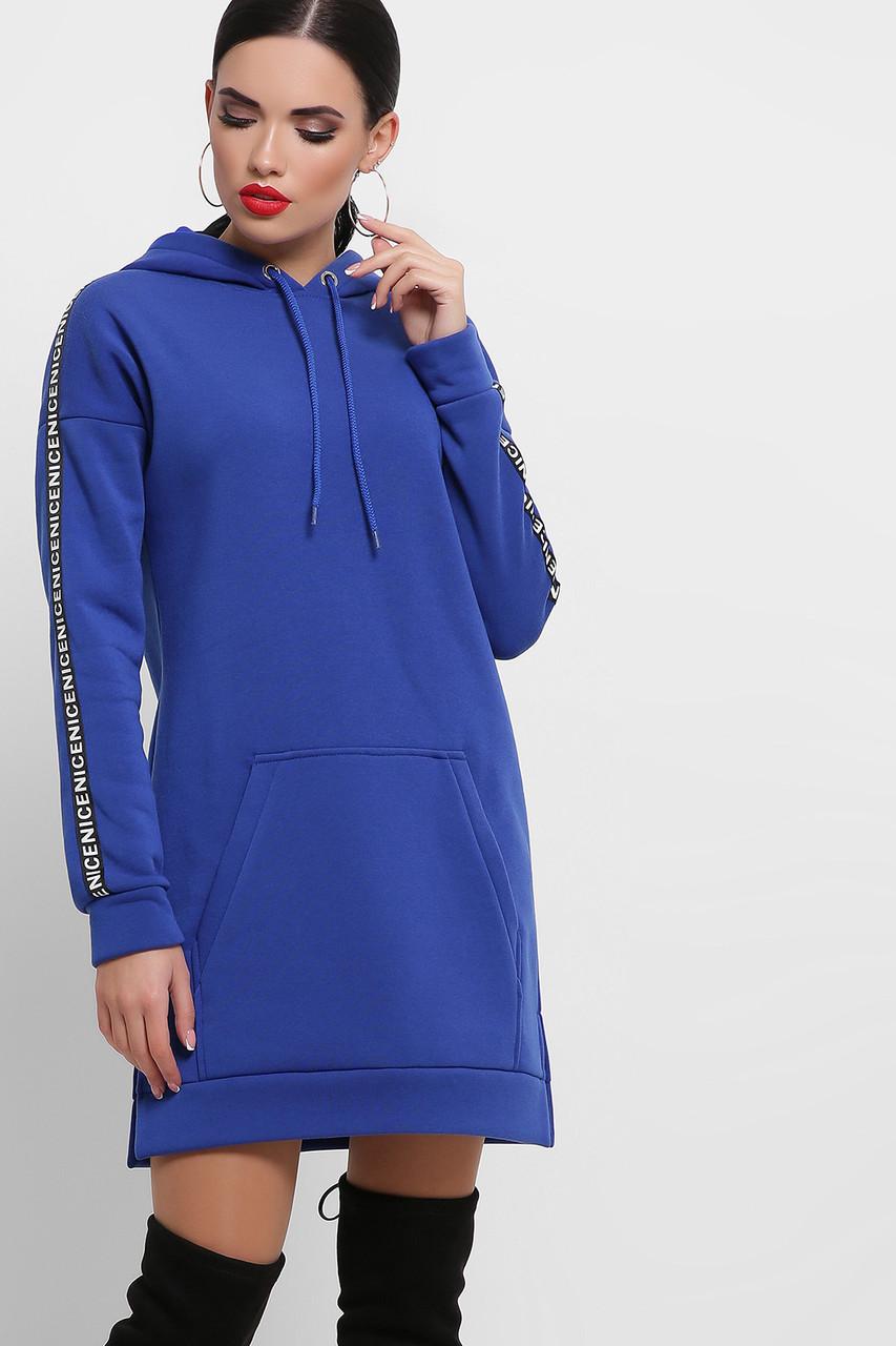 Теплое и комфортное худи с начесом, спортивное платье