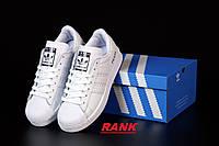Кроссовки женские Adidas Superstar Prada в стиле Адидас Суперстар Прада, белые 38