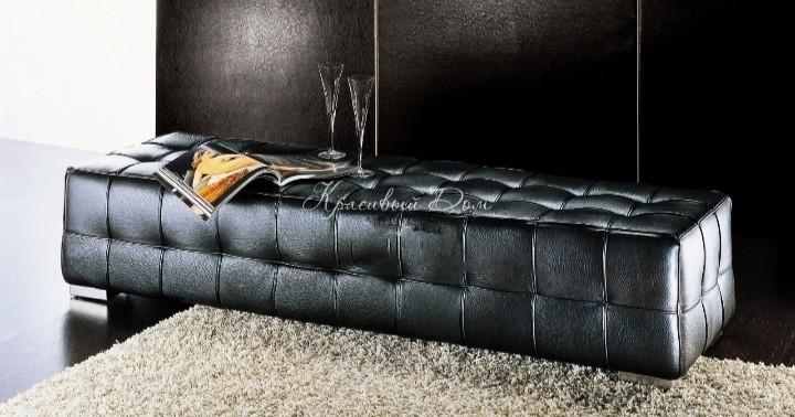 Банкетка Неаполь цвет черный 160х40х43см.пуфик,пуфики,пуф кожзам,пуф экокожа,банкетка,банкетки,пуф к