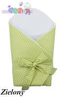 """Конверт -одеяло для новорожденного c бантом со вставкой( салатовый ) """"Duetbaby"""""""