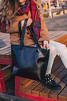 Сумка женская шоппер корзина черная с длинными ручками М177-36, фото 1