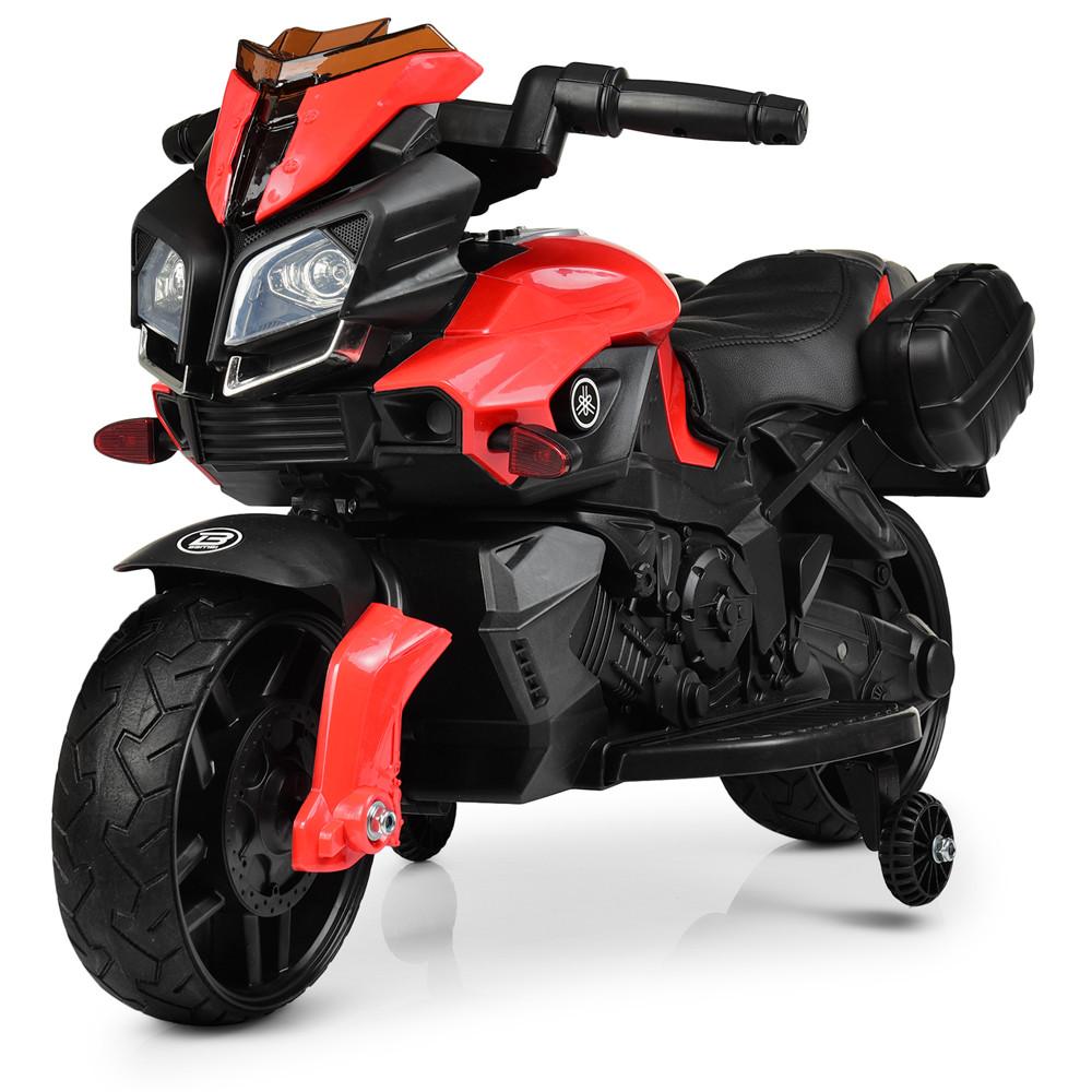 Детский мотоцикл BMW M 3832EL-2-3 черно-красный