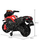 Детский мотоцикл BMW M 3832EL-2-3 черно-красный, фото 4