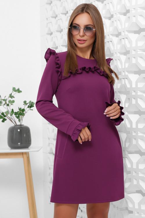 Платье 1845 фиолетовый и еще четыре цвета