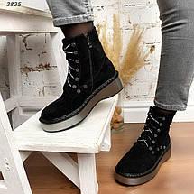 Ботинки женские эко замша демисезонные на флисе 11\3835, фото 3