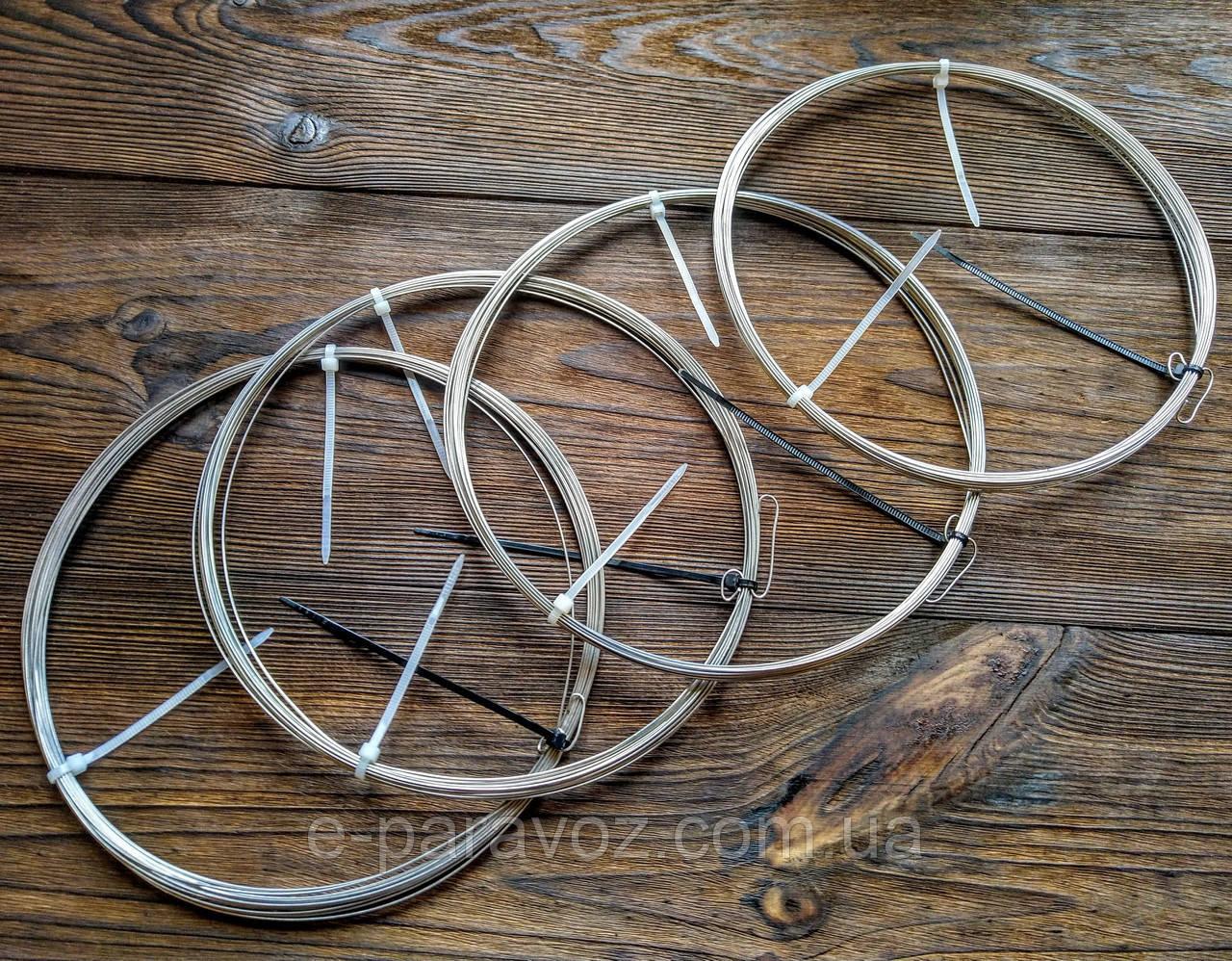 Нержавійка 0.2 мм - 50 метрів, дріт для рукоділля колір срібло, для бісеру