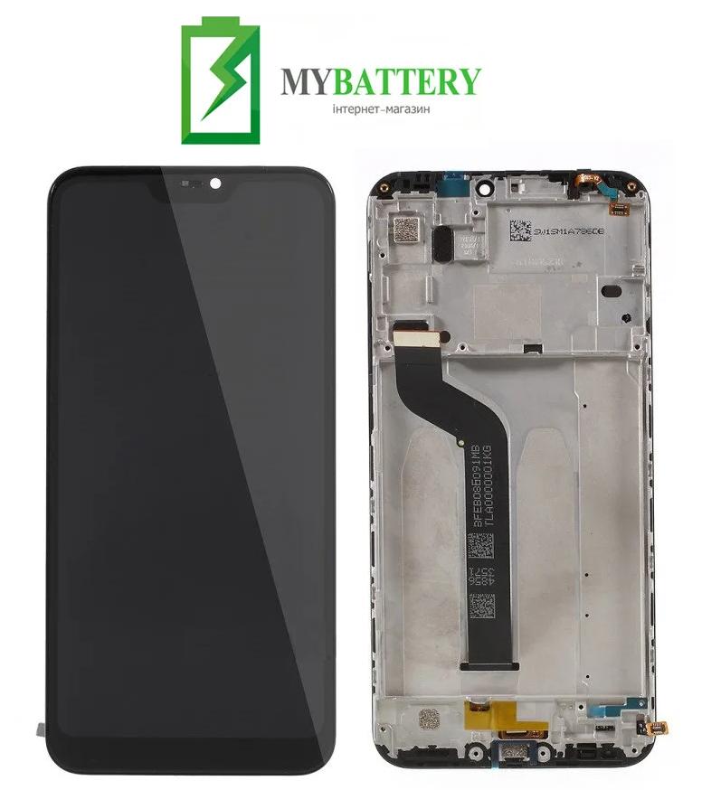 Дисплей (LCD) Xiaomi Mi A2 Lite/ Redmi 6 Pro с сенсором черный + рамка