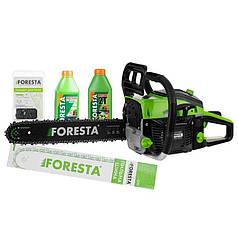Бензопила цепная Foresta FA-40S + 2 л масла 2Т + Цепь запасная (фореста) бензиновая пила