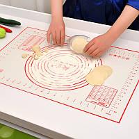 Для запекания и раскатки теста антипригарный силиконовый коврик.