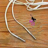 """Стильный белый чокер ожерелье медальон ошейник ошейничек пояс лента колье шнурок QQ3 """"Этюд""""9875, фото 2"""