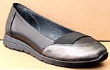 Туфли женские кожаные черные на низком ходу от производителя модель ШТ16, фото 2
