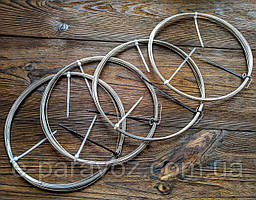 Нержавійка 0.4 мм - 10 метрів, дріт для рукоділля колір срібло, для бісеру