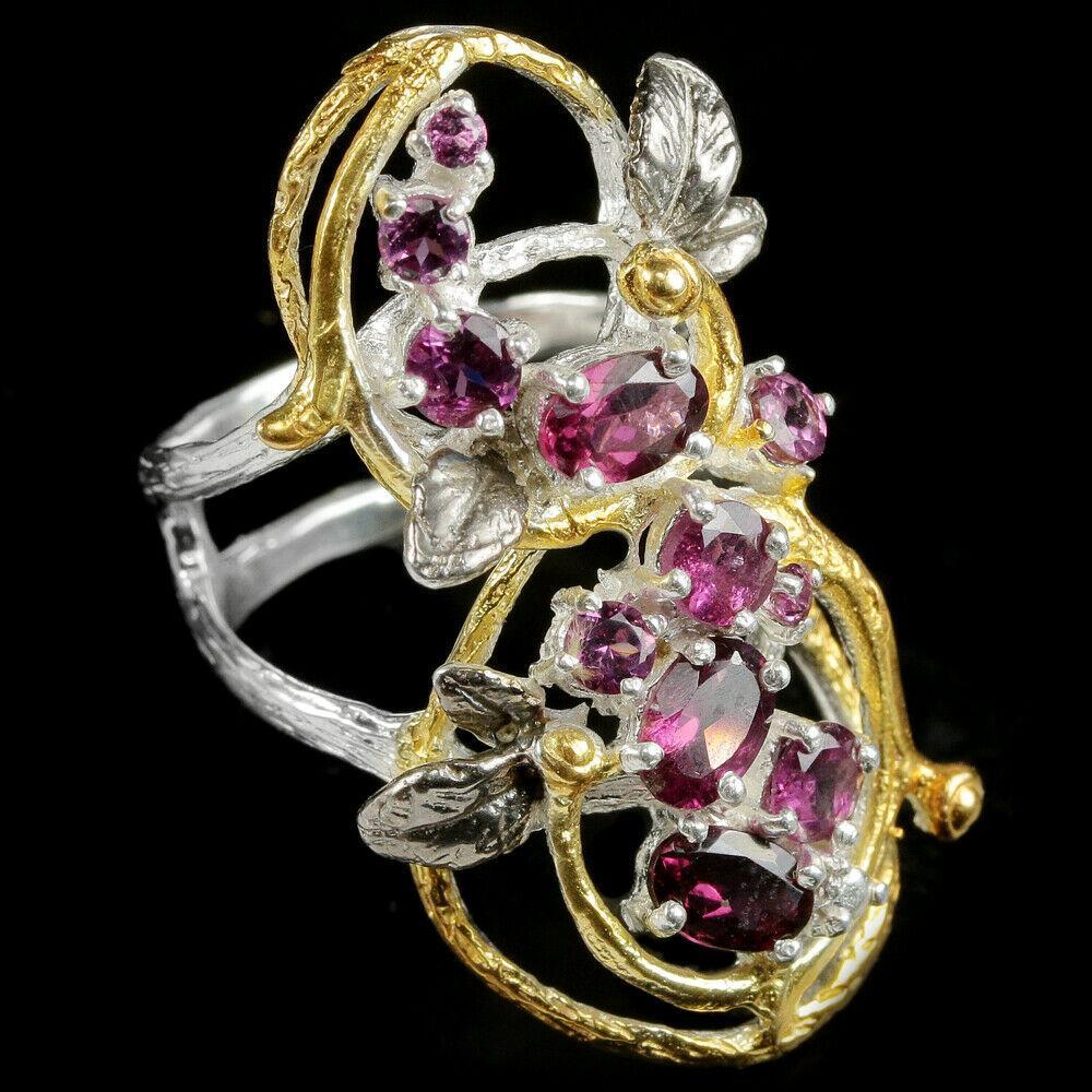 Серебряное кольцо с гранатом родолит, 2233КЦР