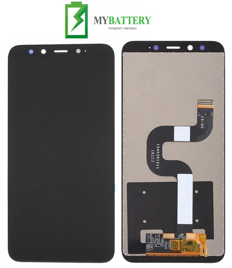 Дисплей (LCD) Xiaomi Mi A2/ Mi6X с сенсором черный + рамка