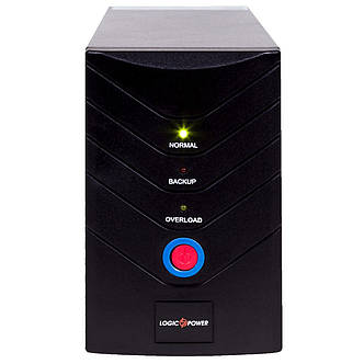 ИБП LogicPower U650VA, Lin.int., AVR, 2 x евро, USB, металл, фото 2