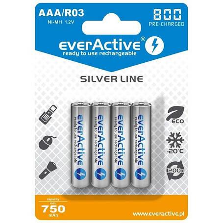 Аккумулятор everActive AAA/HR03 Ni-MH 800mAh (EVHRL03-800) BL 4шт, фото 2