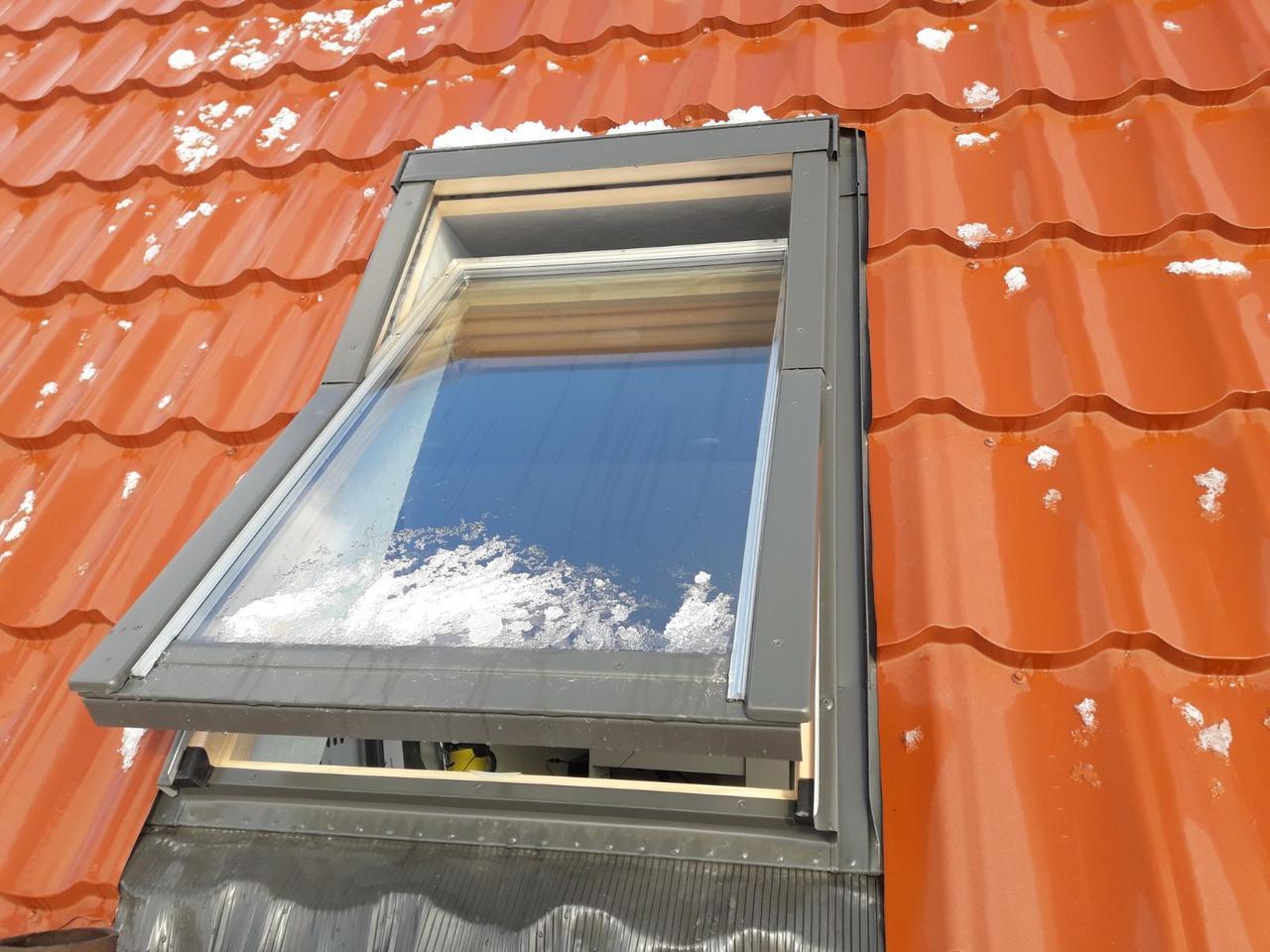 Кровельное Окно OptiLight 78x118 с воротником, Мансардное окно OptiLight 78x118 с воротником
