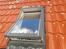 Мансардне Вікно OptiLight 78x118 з окладом, Мансардне вікно OptiLight 78x118 з коміром