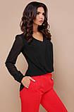 Элегантная черная блузка Айлин, фото 2