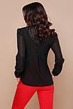 Элегантная черная блузка Айлин, фото 3