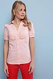 Блузка персиковая хлопковая с короткими рукавами Маргарита, фото 2