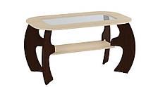 Журнальний стіл Сакура МДФ Венге темний/ Венге світлий, фото 2