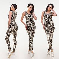 Жіноча леопардова трикотажна піжама .Р-ри 42-54