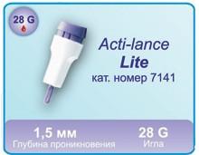 Ланцети автоматичні для забору крові Acti-lance Lite 28 G (200 шт.) дитячі