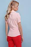 Рубашка женская с короткими рукавами персиковая Эльза, фото 5