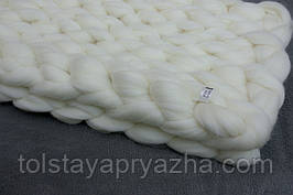 Плед из шерсти (цвет белый) 0,6х1,2 м.