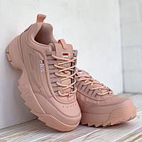 Жіночі рожеві кросівки Fila