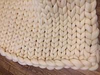 Плед из шерсти (цвет белый) 0,8х1,2 м.