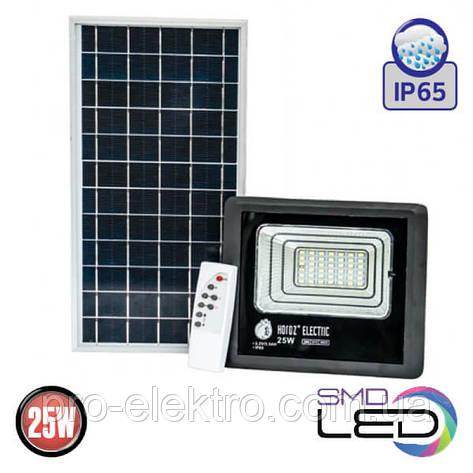 TIGER-25 Прожектор на солнечной панели IP65 SMD LED 25W 6400K 465Lm (068-012-0025-010), фото 2