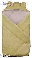 """Конверт - одеяло для новорожденного с капюшоном  coral fleece (салатовый)  """"Duetbaby"""""""