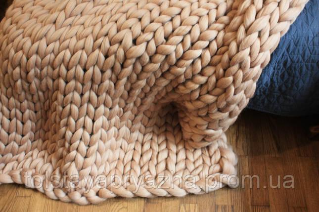 Плед из шерсти  (латте) (0,8х1,2 м), фото 2