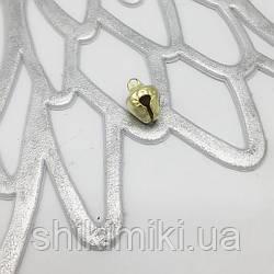 Бубенцы металлические, цвет золото