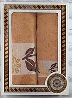Набор полотенец махра банное и лицевое 2 шт (T2587), фото 1