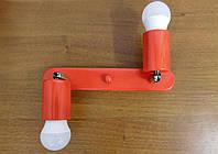 Настенный светильник, спот поворотный, потолочная лампа, на две лампы, красный цвет