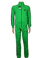 Костюм спортивный мужской адидас,adidas,реплика ,три полосы, зеленый,трикотажный 46-52р. производство Турция.