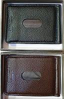 Мужские зажимы из искусственной кожи (черный и каштан)