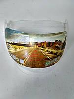 Защитное стекло (визор) 46.5х18.5 прозрачное для открытых мото шлемов