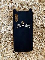 Силиконовый чехол Cat для Xiaomi Redmi Note 7, черный