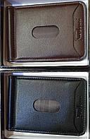 Мужские зажимы из искусственной кожи с молнией сзади (черный и каштан)
