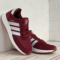 Жіночі червоні кросівки Adidas Iniki