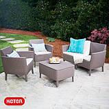 Комплект садових меблів Keter Salemo Lounge Set, фото 2